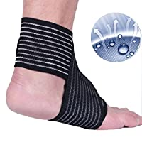 Senston Sports Elastic Bandage Wrapped Support Compression Bandage Brace - for Ankle Knee Elbow Calf Wrist Muscles - Pain Relief Sports Fitness Injury Protection - for Medical & First Aid