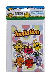 DYNASTRIB Monsieur Madame - Tarjetas de invitación x 6 9004302, multicolor, 10 x 15 cm
