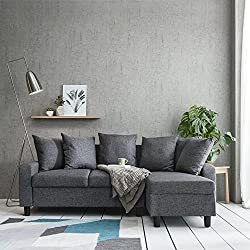 Corner Sofa Left & Right Hand Side Grey