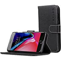 Snugg iPhone 7 and 8 Case, iPhone 7 and 8 Flip Case [Card Slots] Leather Apple iPhone 7 and 8 Wallet Case Cover Executive Design Black, Legacy Series