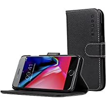 iPhone 7 and 8 Case, Snugg iPhone 7 and 8 Flip Case [Card Slots] Leather Apple iPhone 7 and 8 Wallet Case Cover Executive Design [Lifetime Guarantee] – Black, Legacy Series