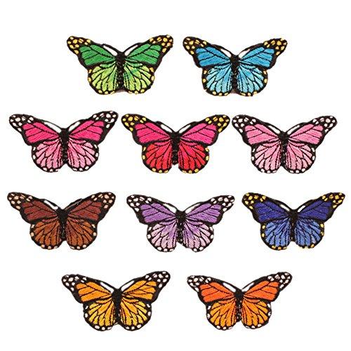 Brightup 10 / Set Stickerei Schmetterling Nähen Eisen Auf Patch Abzeichen Bestickte Stoff Applique DIY