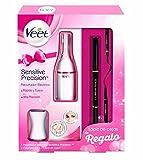 Veet Sensitive Precision - Recortador Eléctrico depilación mujer - kit regalo lápiz cejas