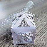 Trade Shop Traesio Bomboniera Scatolina Note Musicali Cubo Porta Confetti Matrimonio, 15 pezzi, 5 x 5 cm