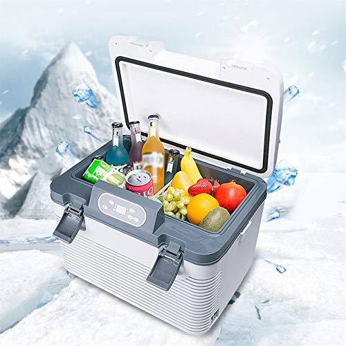 IVHJLP Kleiner Kühlschrank Auto Kühlschrank Kompressor Kühlbox Gefrierbox mit 12/24/220 Volt Anschluss for PKW und LKW Kapazität 19L Weiß-19L (Color : White-19l)