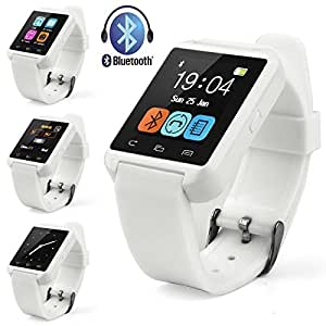Mobile Link Xolo Q510s Compatible U8 Bluetooth Smart Watch(White) With Touch Screen,Multilanguage,Android/Ios Mobile Phone Wrist Watch With Activity Trackers And Fitness & Supports Apps Like Facebook And Whatsapp