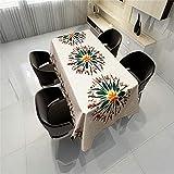 qwdf Tissu Art thème imperméable et Anti-fouling Usine série Impression numérique Nappe jetable Nappe de Table à café...