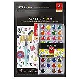Arteza Kids - Juego De Acuarelas Para Niños Con 36 Colores + Pincel De Agua + 30 Hojas Para Pintar
