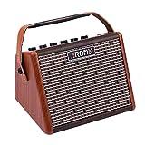 Muslady Amplificatore 15W per Chitarra Acustica Portatile BT Altoparlante AROMA AG-15A Incassato Ricaricabile Batteria con Interfaccia Microfono