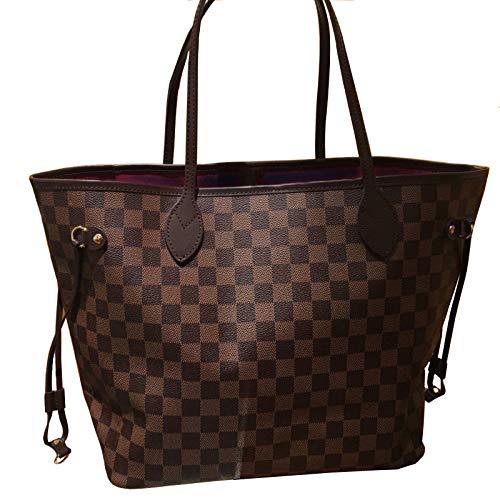 Mrs. Li's shop Europäische und amerikanische Mode Leder Rindsleder Schulter Plaid Kaffee weiß Plaid Einkaufstasche Handtasche, Kaffee Plaid