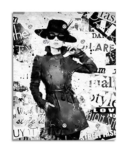 Cuadros Lifestyle Designer-Garderobe | Wandgarderobe | Flurgarderobe | Garderobenhaken | Garderobenpaneel | Urban Look | Kleiderständer | Kleiderablage | Garderobenständer, Größe:100x125