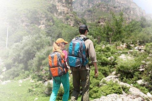 LQABW Wandern Im Freien Schulter Wasserdicht Polyester Atmungsaktiv Bergsteigen Tasche Sport Rucksack 42L Orange