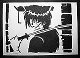 Rurouni Kenshin Himura Handmade Street Art - Artwork - Poster