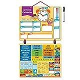 2018 Kinder Kalender Magnettafel mit 134 Lern-Magneten zur Befestigung an Wand oder Kühlschrank. Lehrreiche Aktivität für Grundschule oder Zuhause. Wetter, Zeit, Jahreszeit, Aktivitäten, Emotionen.