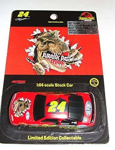 1997 NASCAR Action Racing Collectibles . . . Jeff Gordon #24 Dupont Jurassic Park Chevy Monte Carlo 1/64 Diecast . . . Limited Edition by Nascar