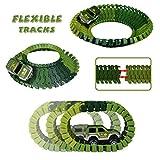 Car Track mit 2 Dinosaurier und Auto Rennbahn Spiel Set Montage Spielzeug für Kinder ab 3 4 5 Jahre - 2