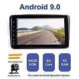 Android Autoradio Stereo,ZLTOOPA für Mercedes Benz W209 W203 W168 W163 W463 Viano W639 Vito Vaneo Android 9,0 Octa Core 4G RAM 64G ROM HD Digitaler Multi-Touchscreen Auto Stereo GPS Radio