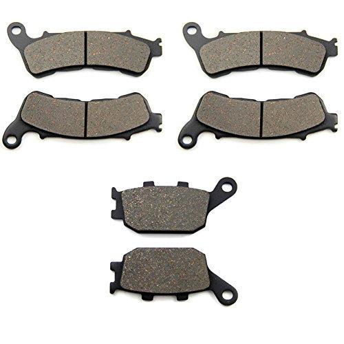 SOMMET plaquettes de frein Avant + Arrière pour Honda CB 600 Hornet ABS Model FA (07-13) XL 700 Transalp VA (3 Piston Front Caliper) (08-12) CBF 600 NA SA ABS (08-13) LT388-388-174