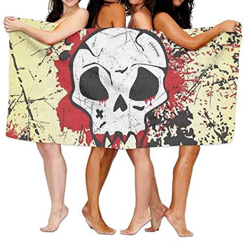 Ewtretr Strandtücher Grunge Skull Printing Stylish Towel - Jamaika-geschenk-set