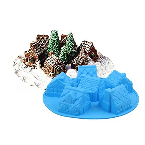 ODN Silikon Fondant Schokoladenform Haus Form DIY Kuchen Tasse Kuchenform Tortendeko Schokolade Sugarcraft Icing Pudding Schimmel Backenwerkzeuge