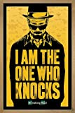 Breaking Bad Poster I am the one who knocks (66x96,5 cm) gerahmt in: Rahmen Eiche