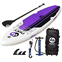 """NIXY All Around Inflatable Stand Up Paddle Board Package. Ultra Light 10'6"""" Board Built with Advanced Fusion Laminated Dropstitch Technology and 2 YR Warranty …"""