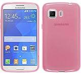 TBOC® Funda de Gel TPU Rosa para Samsung Galaxy Young 2 G130 HN de Silicona Ultrafina y Flexible