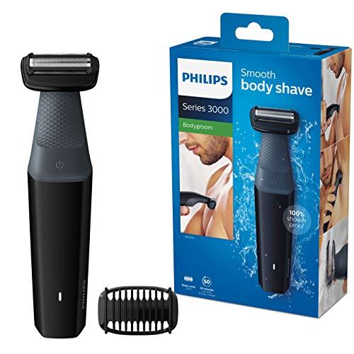 Philips BG3010/15 Bodygroom Series 3000 hautfreundlicher Körperrasierer inkl. Trimmaufsatz
