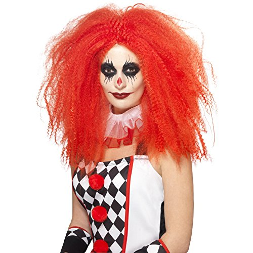 Smiffys, Unisex Grusel Clown Perücke, One Size, Rot, (Rot Haar Perücken)