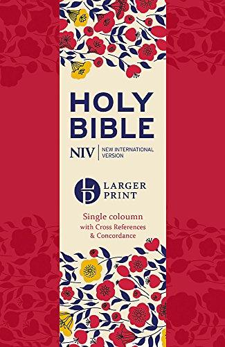 NIV Larger Print Compact Single Column Reference Bible: Hardback (New International Version) por New International Version