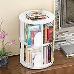 JX&BOOS Bookshelf,Creative swivel bookcase 360°bookrack modern simple shelf childrens corner simple table student landed-A 46x46x66cm(18x18x26)