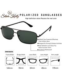 Silver Kartz Polarised Double Bar Classic elite Aviator Sunglasses (wy229)