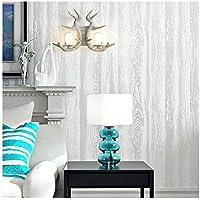 YJZ 3D Retro Holzmaserung Textur Tapete Vlies Moderne Umweltschutz Home Decor Tapete Für Wohnzimmer, Schlafzimmer Und TV Hintergrund,White,15PCS