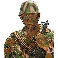 NET TOYS Elmetto mimetico da soldato ideale per travestimenti e feste di  carnevale a tema 9137a67e8169