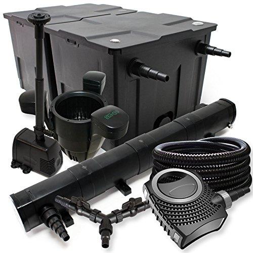 sunsun-filtro-set-60000l-stagno-72-w-laghetti-neo8000-70-w-pompa-25-m-tubo-skimmer-fontana