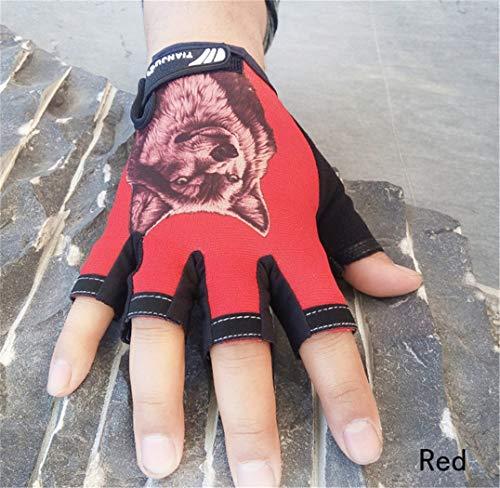 STZHIJIA Handschuhe Fingerlose Handschuhe des Halben Finger Männer Frauen Tiere Muster Halbe Finger Handschuhe C