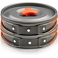 Camping Cookware Kit esterna Backpacking Gear & Trekking Cooking attrezzature