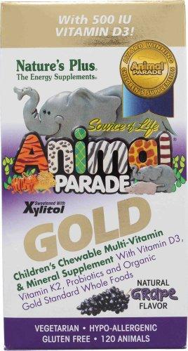 Animal Parade Gold, Children's Chewable Multi-Vitamin & Mineral, Grape Flavour, 120 Animals (Kinder-multi Kautabletten)