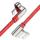 ALYEE iPhone-Kabel, 1,80 m, Lightning-Kabel, 180°-Winkel, zum Synchronisieren und Aufladen. USB-Kabel, Ladegerätkabel für iPhone X/8/8Plus, 7/7Plus, 6/6S/6S Plus, 5C/5S/5/SE, iPad und iPod rot