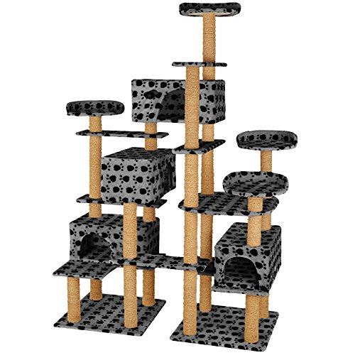 TecTake Árbol rascador Gatos 214 cm Altura | 4 Plataformas