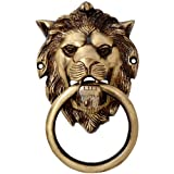 #5: Two Moustaches Brass Lion Mouth Door Knocker