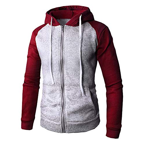 TWBB Herren Hoodies Slim Fit Kapuzenpullover Mit Tasche Langarm Fashion Graphic Mantel Outwear Sweatjacke