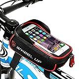 HIKENTURE® Fahrradtasche mit Fingerabdruck Entsperren(Touch ID) wasserdichte Rahmentasche mit TPU-Touchscreen, Oberrohrtasche für Fahrrad, Handyhalter Fahrrad, Geeignet für Handys bis 6 Zoll