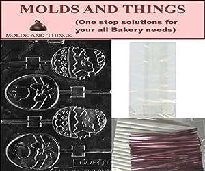 Tirelire poulet et Lolly; Chocolat Bonbon Moule à bonbons avec des instructions et Lot-© sucettes Kit d'emballage de 50