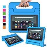 Surom Kids Case for All-New Amazon Fire 7 2019, Shock Proof Light Weight Convertible Handle Stand Protective Cover for kids for Amazon Fire 7 2019 Release (9th Generation) Tablet, Blue
