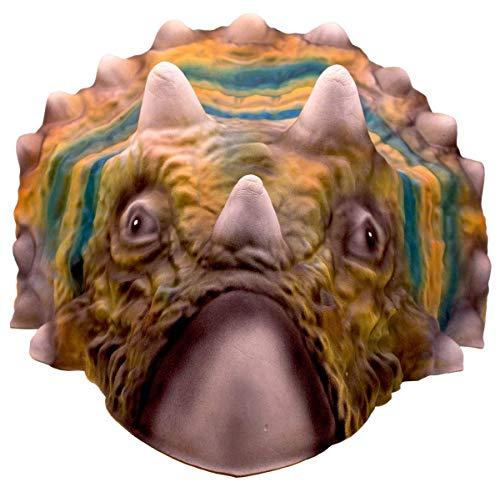 Folat 61386 - Maske Dinosaurier Triceratops - ca. 32 x 30 cm (Jurassic Kostüme Park)