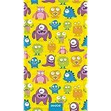 Bubel Monsterworld Toalla Técnica, Microfibra, Multicolor, 175x95x0.03 cm