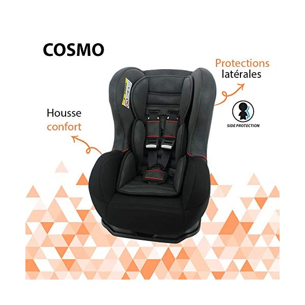 Nania Cosmo Group 0+/1 Infant Car Seat, Pink nania Forward and rear facing car seat Side impact protection Harness sleeves and quick release buckle 5