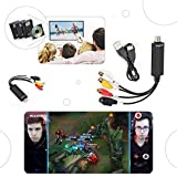 CAPTURADORA DE AUDIO VIDEO POR USB 2.0 PARA TV VIDEO VHS A DVD PS3 XBOX PS4