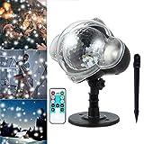 Luz de Proyector LED, Luz de Vacaciones y Linterna de Mano, con Modo de Música Dinámica E Imágenes Estáticas, Luces de Fiesta Portátil para Fiesta en Casa, Cumpleaños, Halloween y Navidad